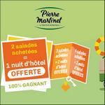 Bon Plan Pierre Martinet : 2 Salades Achetées = 1 Nuit d'Hôtel Offerte - anti-crise.fr