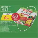 Bon Plan Dessert Fruitier sans Sucres Ajoutés Andros chez Intermarché - anti-crise.fr