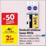 Bon Plan Déodorant Femme Nivea chez Carrefour - anti-crise.fr