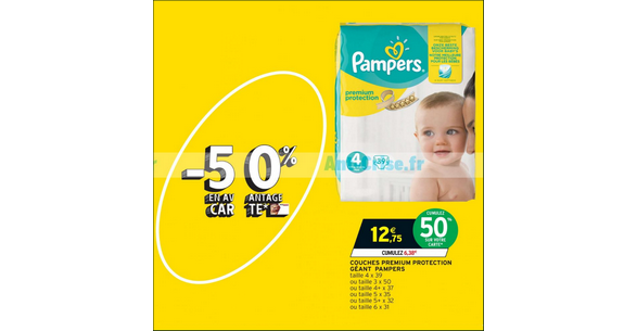 Bon Plan Couches Pampers Prémium Protection chez Intermarché - anti-crise.fr