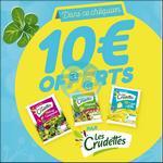 Offre de Remboursement Les Crudettes : Chéquier de bons de réduction de 10€ - anti-crise.fr