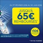 Offre de Remboursement Oral-B : Jusqu'à 65€ Remboursés sur Brosse à Dents Electrique - anti-crise.fr