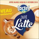 Offre de Remboursement Lactel : Caffe Latte 100% Remboursé en 2 Bons