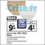 Bon Plan Slips Dim Body Touch chez Géant Casino (20/03 - 02/04) - anti-crise.fr