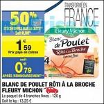 Bon Plan Blanc de Poulet Fleury Michon chez Carrefour Market (20/03 - 01/04) - anti-crise.fr