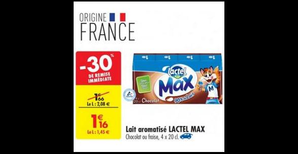Bon Plan Lactel Max chez Carrefour (27/03 - 01/04) - anti-crise.fr