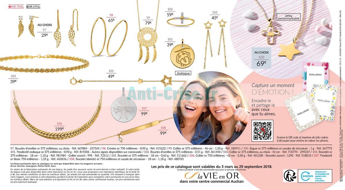 septembre2018 Catalogue Auchan du 3 ars au 29 septembre 2018 (Bijoux) (8)