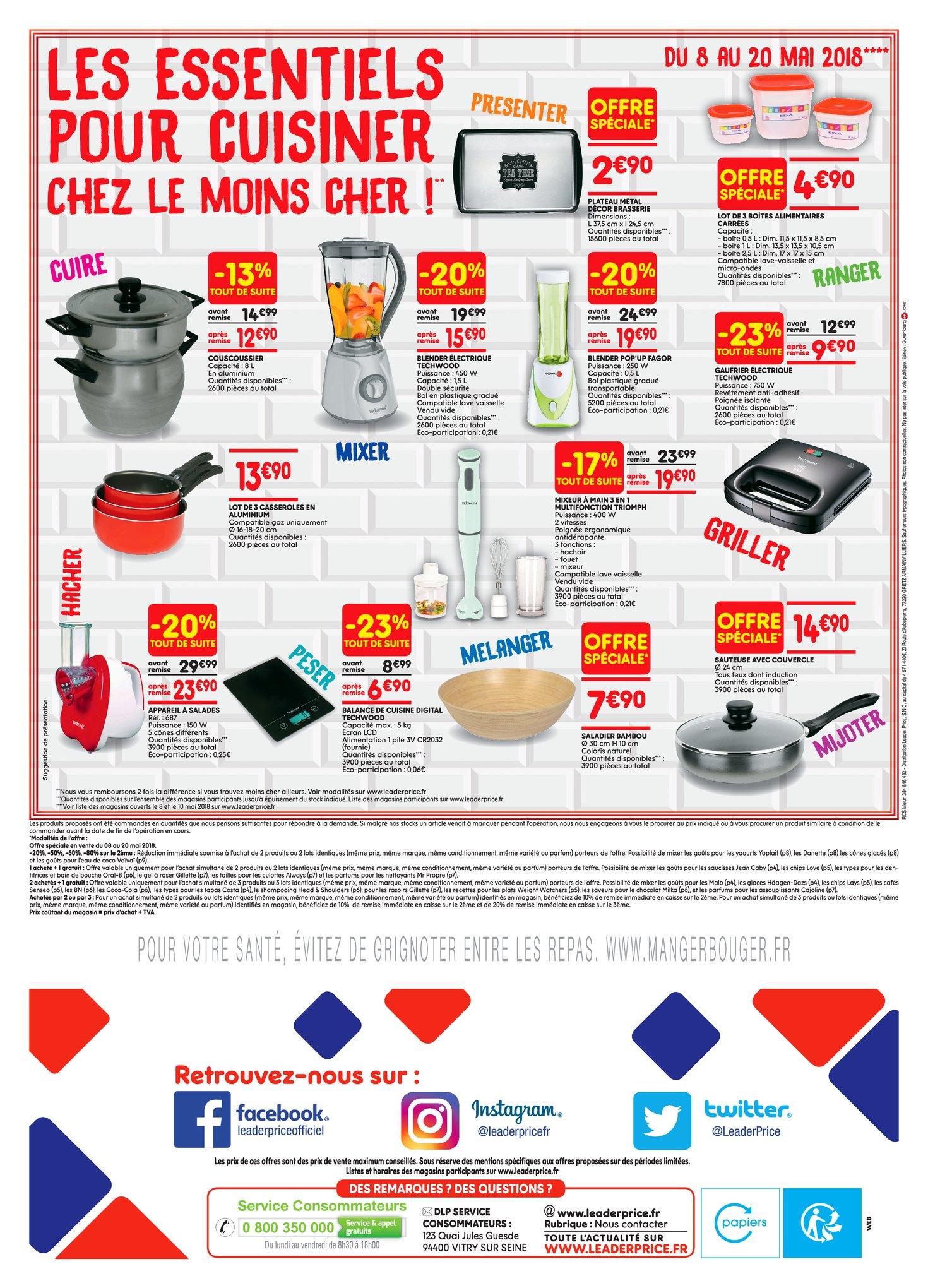 Catalogue Leader Price du 8 au 20 mai 2018 (Le Mois 100% Remboursé Vague 1) (16)
