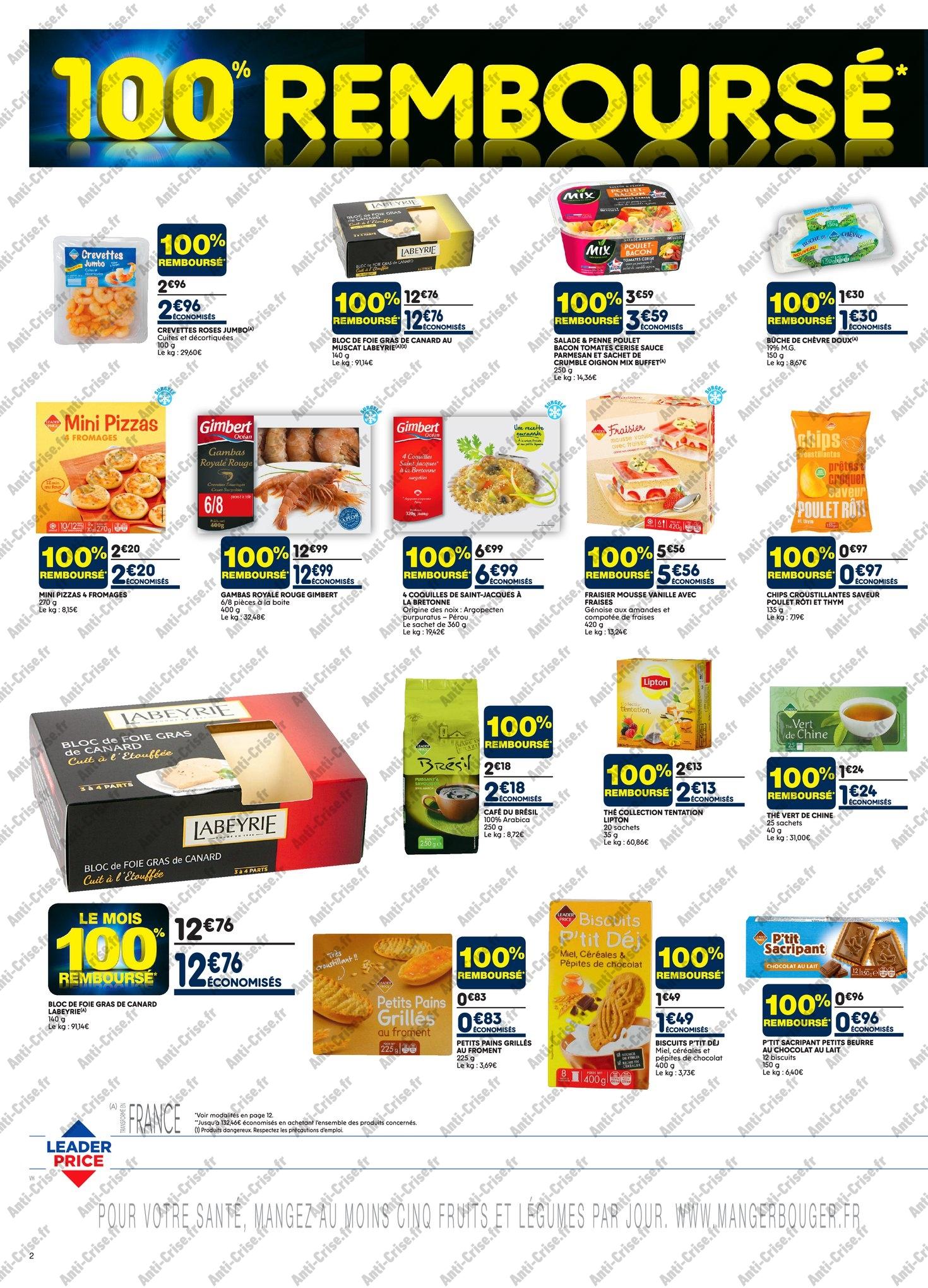 Catalogue Leader Price du 8 au 20 mai 2018 (Le Mois 100% Remboursé Vague 1) (2)