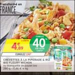 Bon Plan Crevettes à la Piperade & Riz Bio fleury Michon chez Intermarché - anti-crise.fr