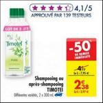 Bon Plan Shampooing ou Après-Shampooing Timotei chez Carrefour - anti-crise.fr