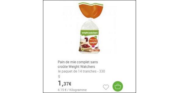 Bon Plan Pain de Mie Weight Watchers® - anti-crise.fr
