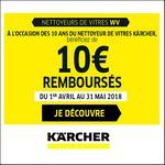 Offre de Remboursement Kärcher : 10€ Remboursés sur Nettoyeur de Vitres WV - anti-crise.fr