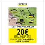 Offre de Remboursement Kärcher : 20€ Remboursés sur Accessoire Nettoyeur Haute Pression - anti-crise.fr