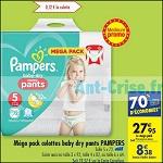 Bon Plan Culottes Baby Dry Pants Pampers chez Carrefour (10/04 - 16/04) - anti-crise.fr