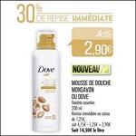 Bon Plan Mousse de Douche Surgras Dove chez Match (10/04 - 22/04) - anti-crise.fr