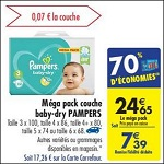 Bon Plan Couches Baby Dry Pampers chez Carrefour (10/04 - 16/04) - anti-crise.fr