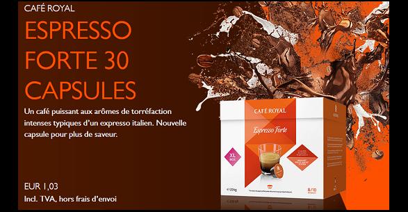Bon Plan Café Royal : 17 Boites de 30 Capsules à 12,36€ - anti-crise.Fr