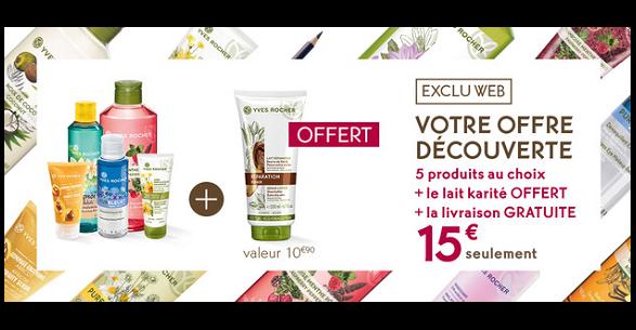 Bon Plan Yves Rocher : 5 Produits pour 15€ + 2 cadeaux - anti-crise.fr