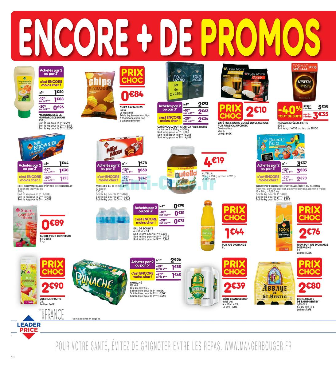 Catalogue Leader Price du 22 mai au 3 juin 2018 (Le Mois 100% Remboursé Vague 2) (10)