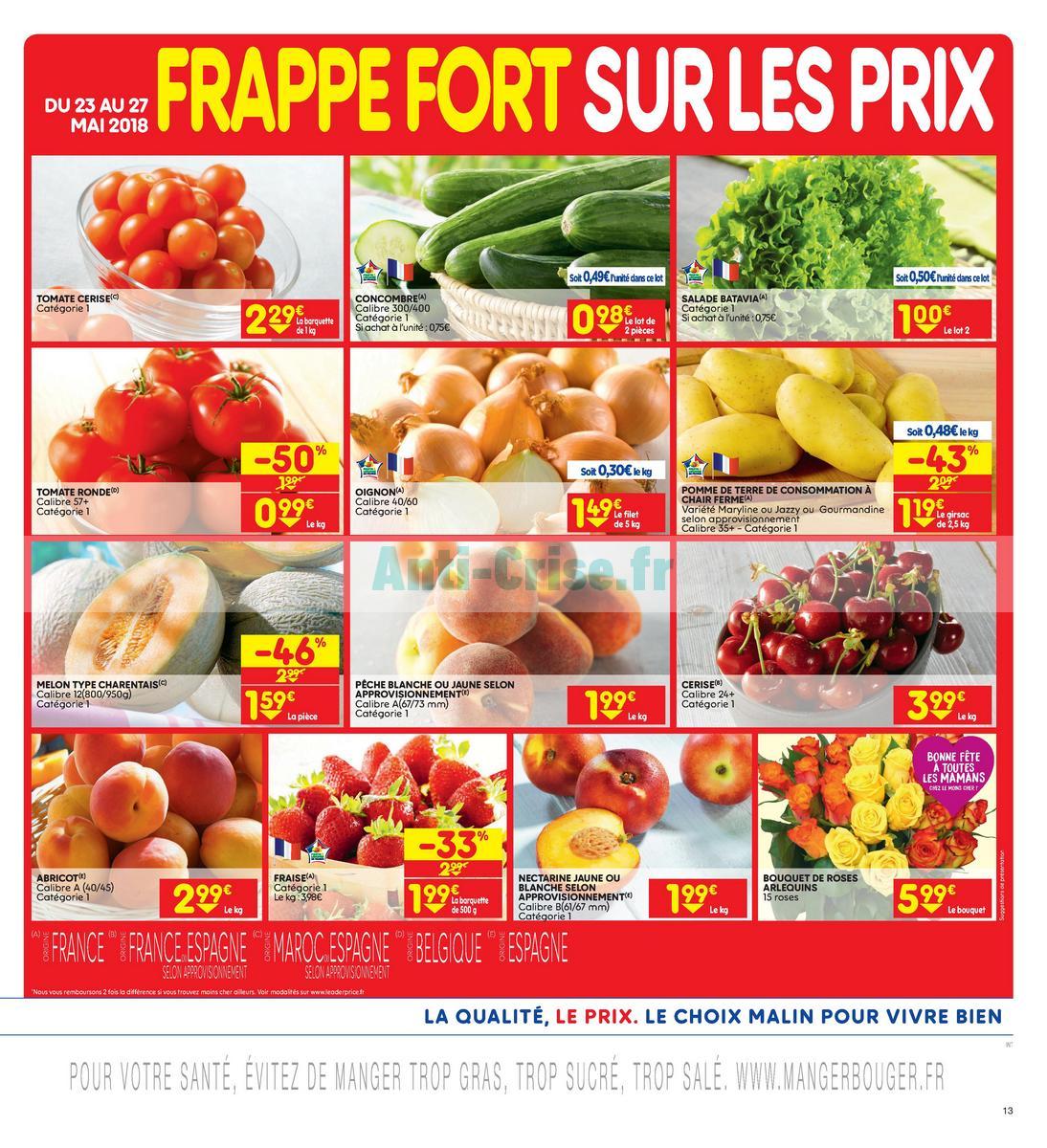 Catalogue Leader Price du 22 mai au 3 juin 2018 (Le Mois 100% Remboursé Vague 2) (13)