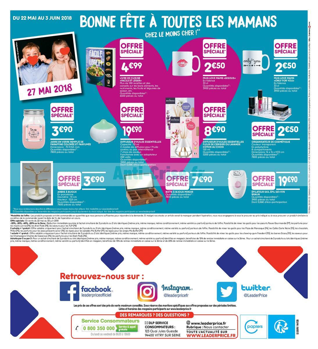 Catalogue Leader Price du 22 mai au 3 juin 2018 (Le Mois 100% Remboursé Vague 2) (16)