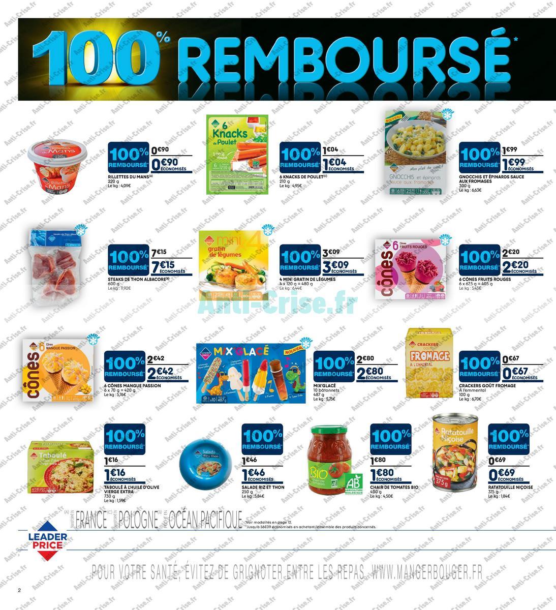 Catalogue Leader Price du 22 mai au 3 juin 2018 (Le Mois 100% Remboursé Vague 2) (2)