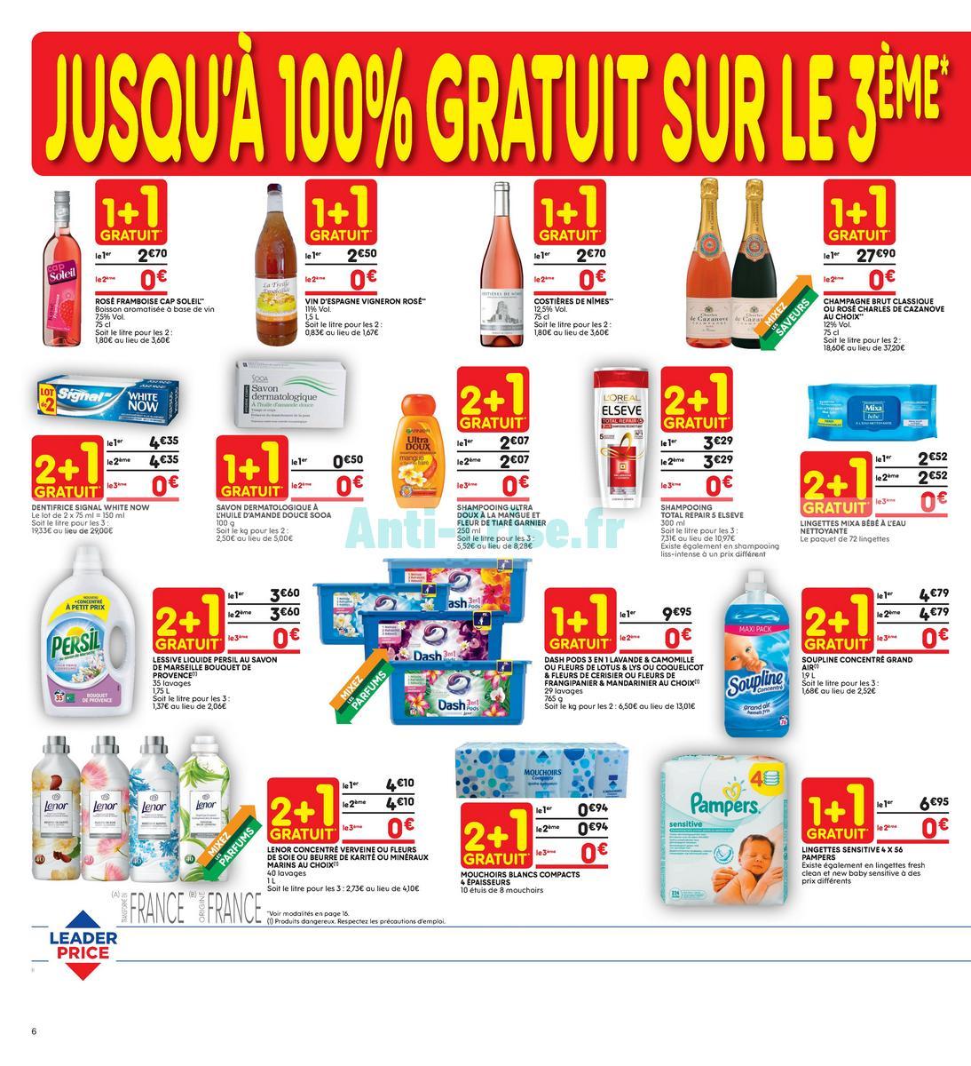 Catalogue Leader Price du 22 mai au 3 juin 2018 (Le Mois 100% Remboursé Vague 2) (6)