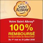 Offre de Remboursement Saint Albray 100% Remboursé en 2 Bons - anti-crise.fr