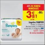 Bon Plan Lingettes Pampers chez Carrefour - anti-crise.fr