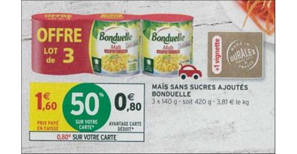 Dans Les Catalogues Intermarch Hyper Et Super Du 29 Mai Au 10 Juin 2018 Le Mas Bonduelle Est En Promotion Avec 50 De Remise Sur Carte Fidlit