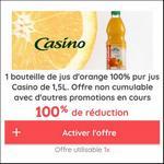 Offre de Remboursement Casino Max : Jus d'Orange 1,5L 100% Remboursé - anti-crise.fr