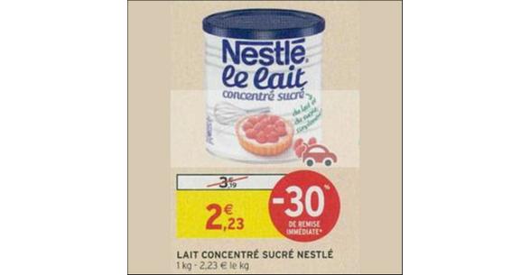 Bon Plan Lait Concentré Sucré Nestlé chez Intermarché - anti-crise.fr