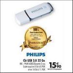 Offre de Remboursement Carrefour : Clé USB 32Go Philips 100% Remboursé - anti-crise.fr
