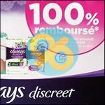Offre de Remboursement Always : 1 Produit Discreet 100% Remboursé - anti-crise.fr