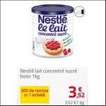 Bon Plan Lait Concentré Sucré Nestlé chez Auchan - anti-crise.fr