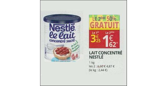 Bon Plan Lait Concentré Sucré Nestlé chez Auchan Supermarché - anti-crise.fr
