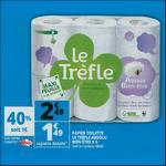 Bon Plan Papier Toilette Le Trèfle chez Auchan - anti-crise.fr