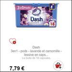 Bon Plan Lessive Dash Pods 3en1 partout - anti-crise.fr
