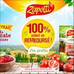 Offre de Remboursement Zapetti : Sauce Ma Tomate Cuisinée Séduit ou 100% Remboursé - anti-crise.fr