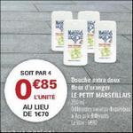 Bon Plan Gel Douche Extra Doux Le Petit Marseillais chez Géant Casino - anti-crise.fr