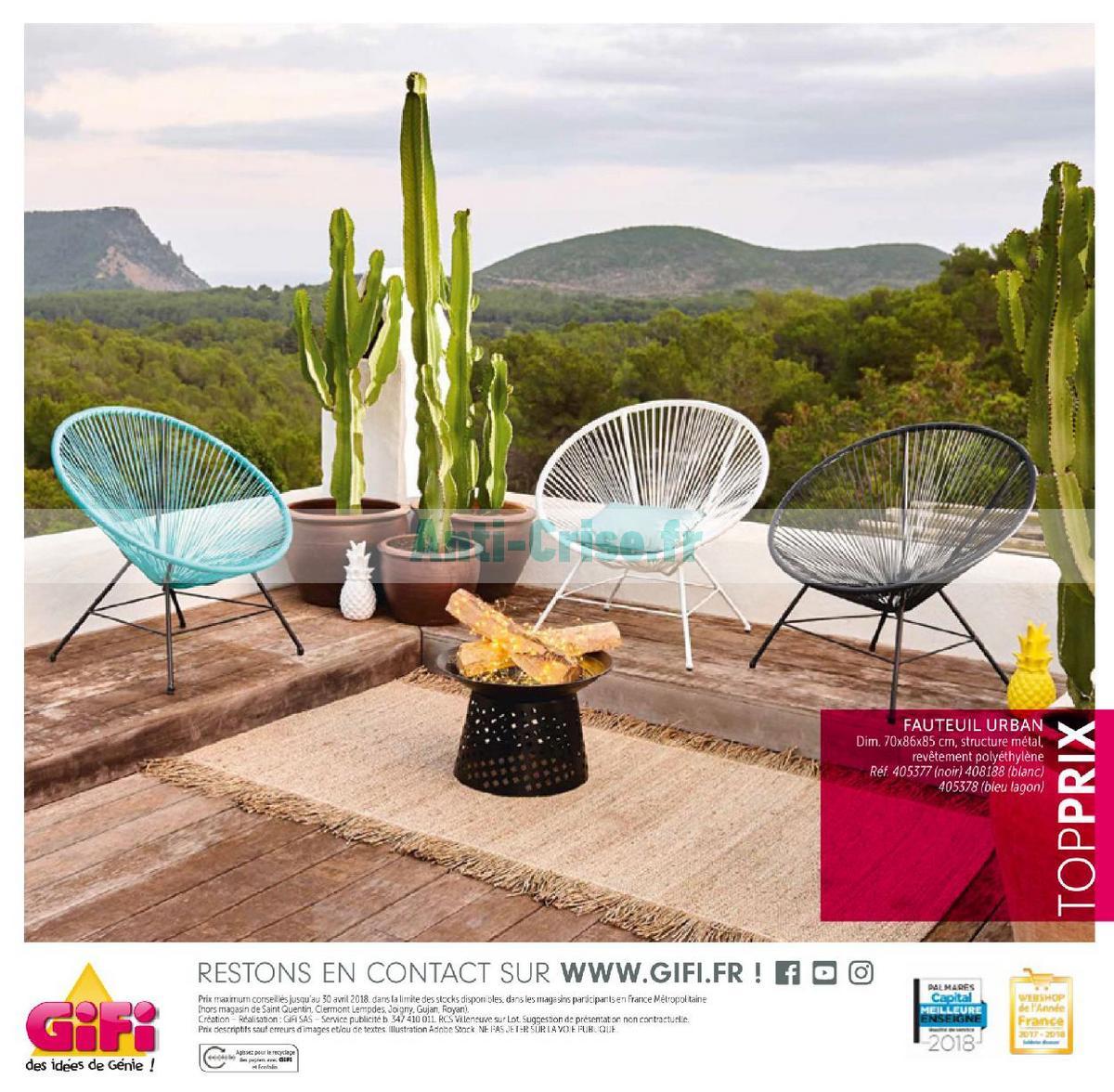 aout2018 Catalogue Gifi du 1er mai au 31 août 2018 (Plein Air) (196)