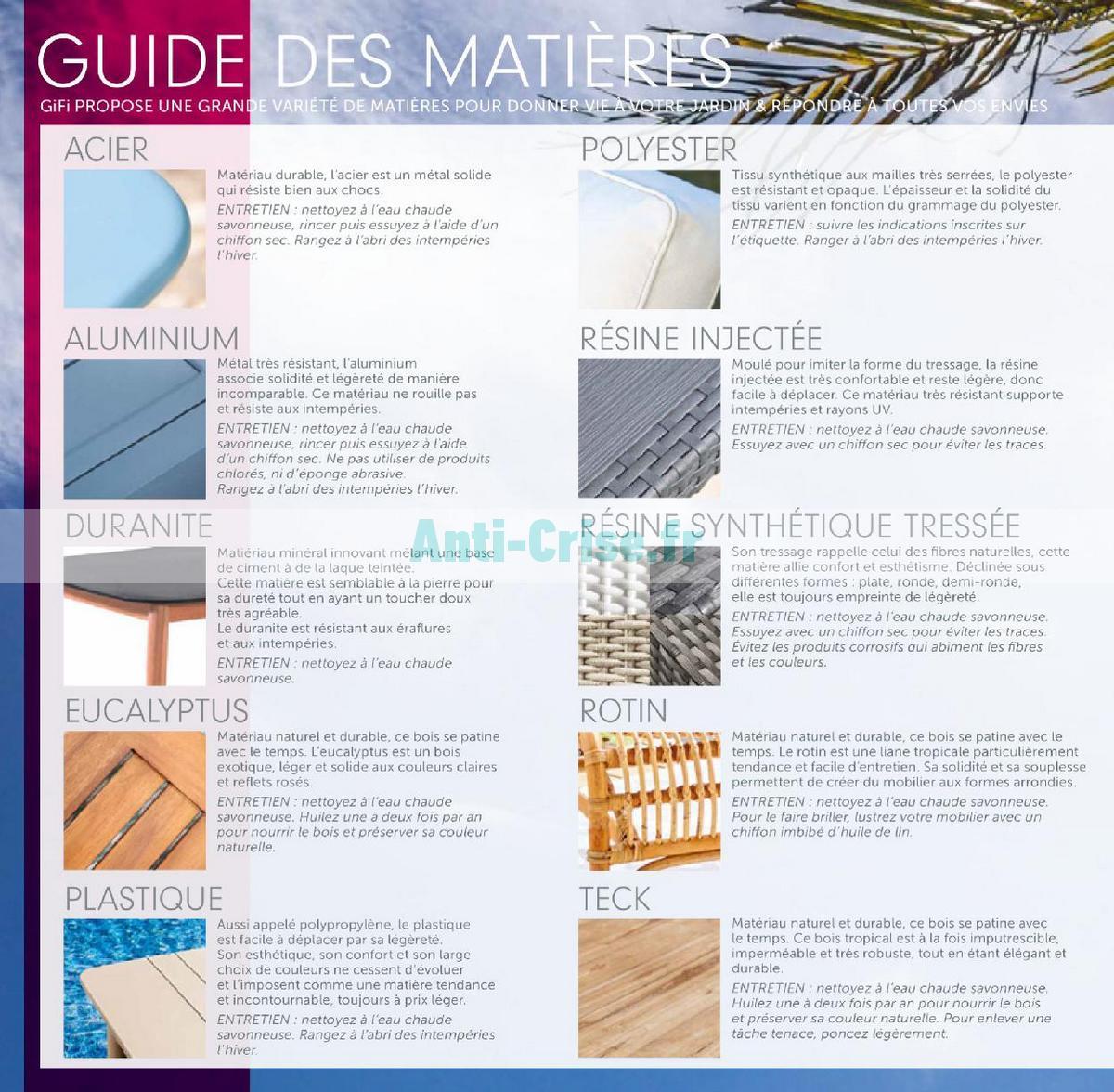 aout2018 Catalogue Gifi du 1er mai au 31 août 2018 (Plein Air) (6)