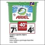 Bon Plan Lessive Ariel Pods chez Géant Casino (15/05 - 27/05) - anti-crise.fr