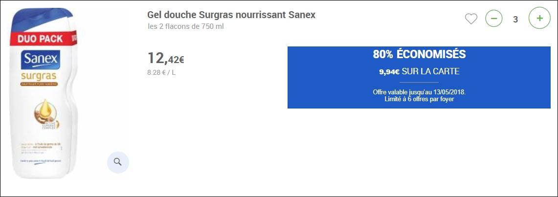 bon plan sanex drive carrefour market 1