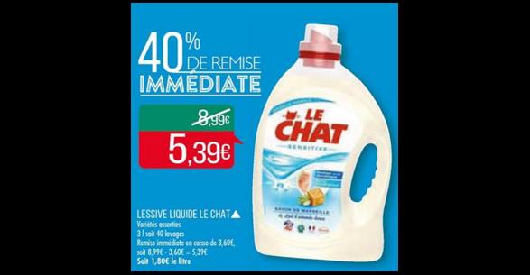 Bon Plan Lessive Lechat Sensitive chez Match (15/05 - 27/05) - anti-crise.fr