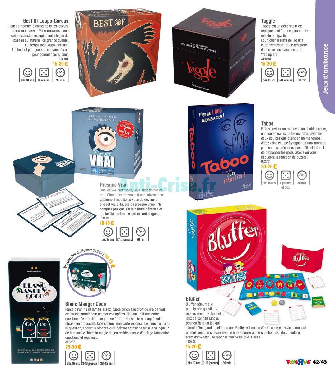 septembre2018 Catalogue Toys R Us du 7 avril au 23 septembre 2018 (Jeux de Société) (43)