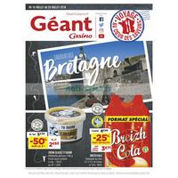 Catalogue Géant Casino du 10 juillet au 29 août 2018 (Bretagne)