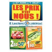 Catalogue Leclerc du 27 juin au 1er juillet 2018 (Lubersac)