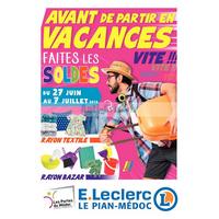 Catalogue Leclerc du 27 juin au 7 juillet 2018 (Le Pian-Médoc)
